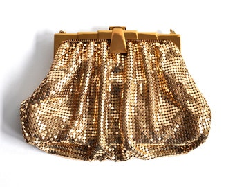 Vintage Gold Metal Mesh Bag Whiting & Davis Co.