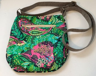Cross Body Bag, Trail Tote, Lilly Pulitzer inspired