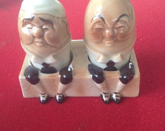 REDUCED! vintage Humpty Dumpty Salt and Pepper Shakers