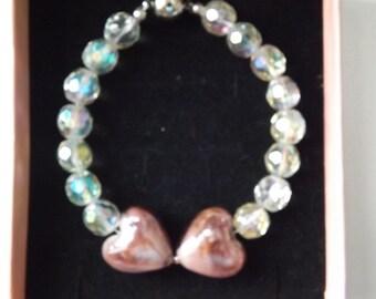 Smokey Pink - Crystal Bracelet