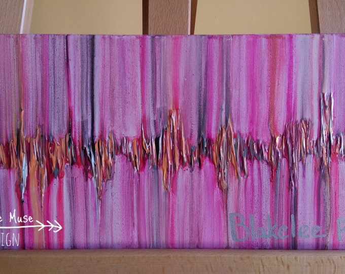 Custom Heartbeat Painting, your color choice