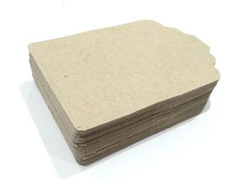 50 cardboard Tags Bazzill color Kraft