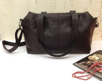 Sale!!! Black Leather bag Medium leather bag Leather handbag Leather purse Medium Leather bag women