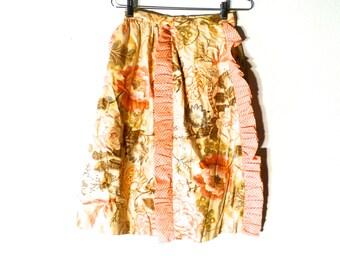 Vintage 60s Floral Skirt