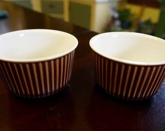 Villeroy & Boch; Set of Two; Ribbed Ramikins; Approx. 2 x 3 in. Nice quality !!!