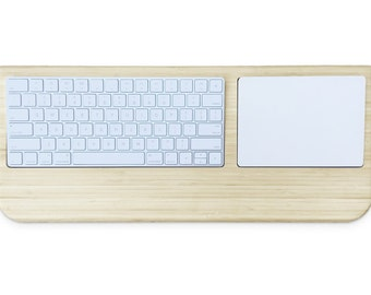 Station for Magic Trackpad | Control Your iMac Remotely - Apple Keyboard Magic Trackpad Bamboo Wood Docking Lapdesk Gift - Fast Shipping