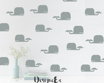 Wall Stickers - Momma and Baby Whales