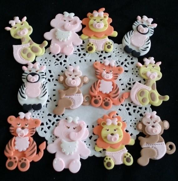 Safari Baby Shower Baby Animals Cupcake Toppers Jungle Baby