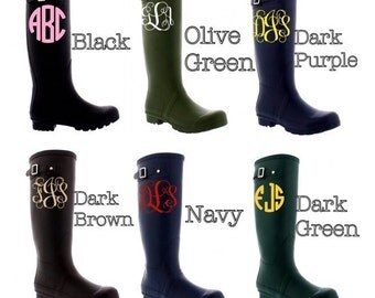 Personalized/Monogram Rain boots