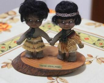"Vintage 1960""s Kiwi Maori Souvenir Dolls"