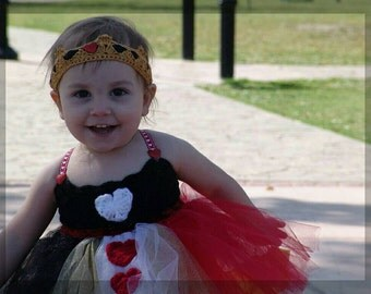 Queen of Hearts Inspired Tutu Dress Outfit