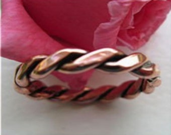 Solid Copper Band Ring 021 Available in sizes 5 to 11 - 1/8 of an inch wide