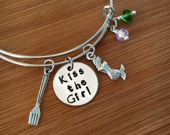 Bangle/bracelet/little mermaid bangle/Ariel bangle/Disney's little mermaid/the Little Mermaid Bangle