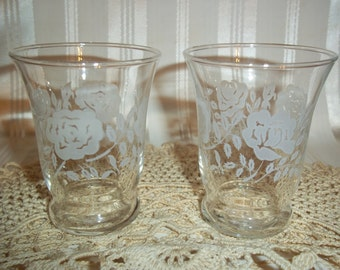 Drinkware Etched Glass Vine