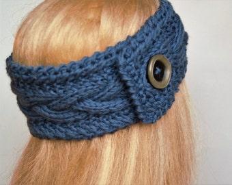 Gray  Ear Warmer,Alpaca Wool,Knitted Winter Headband, Knit Ear Warmer ,Gray Headband,Wool  Ear Warmer,Wool Headband,Handmade Headband