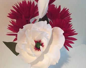 Magnolia and Dahlias