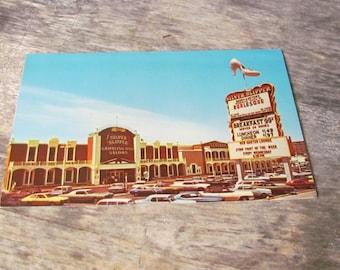 Vintage 1950's Postcard, Silver Slipper, Las Vegas Burlesque