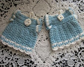 Vintage Dress Doiley Crochet Pot Holder Hot Pad