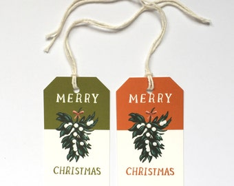 Mistletoe Gift Tags