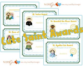 Cute Saint Awards Printable PDF