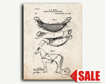 Patent Art - Electric Appliance For Horses Patent Wall Art Print