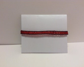 Red Boho Style Beaded Bracelet