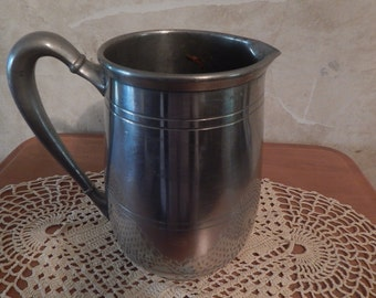 Vintage 1940  Solid Pewter Pitcher by Pilgrim # 861