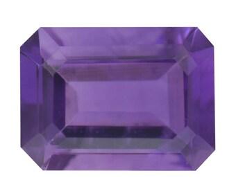 Lusaka Amethyst Octagon Cut Loose Gemstone 1A Quality 8x6mm TGW 1.15 cts.