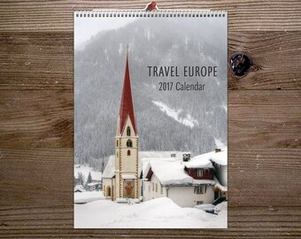 2018 Calendar, Wanderlust , Wall Calendar, Travel Europe, Photography