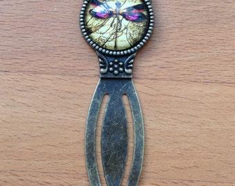 Antique brass vintage dragonfly bookmark
