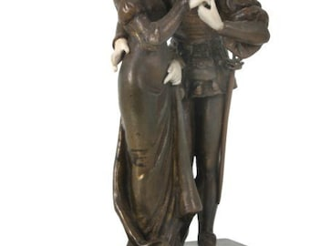 Antique ''Fabrication Francaise'' French Bronze & Parian Sculpture - circa 1900