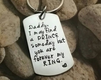 Personalized key chain- father's day-daddy from daughter-daddy gift-father key chain-grandfather gift-daddy key chain-engraved-
