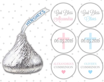 Hershey kiss stickers communion (108) - Hershey kiss stickers - Hershey kiss labels (HK008)
