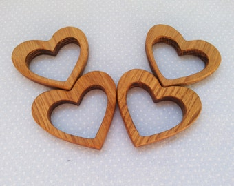 "New Organic Wooden teether toy ""heart"" - Natural Wooden Toy - Handmade wooden teether heart, oak Toy new heart - heart for decor"