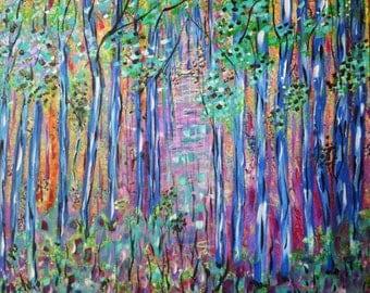 Art Print, Purple Abstract, Fine Art, Modern Painting, Gilcee Print, Wall Art