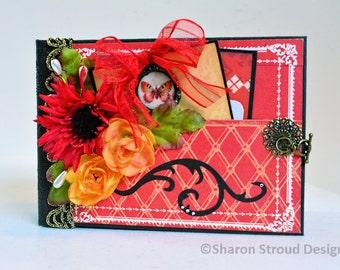 Floral Ciao Bella 5x7 Mini Scrapbook Album