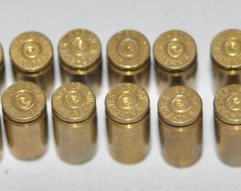 Winchester 40  S & W Smith  Wesson Brass Bullet Shell Casings For Jewelry Making 20 Pieces Matching Headstamps
