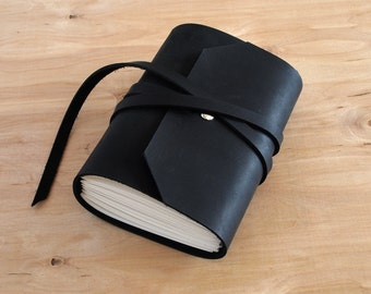 4X6 Black, Handmade Leather Journal