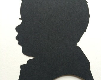 3 Custom Hand Cut Silhouettes Cameo,  Personalized Gift ideas, Vintage Silhouette, Personalized Silhouette