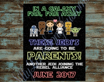Star Wars Themed Printable Pregnancy Announcement! The Force is Strong - Jedi - Your Choice of Size! DIGITAL FILE