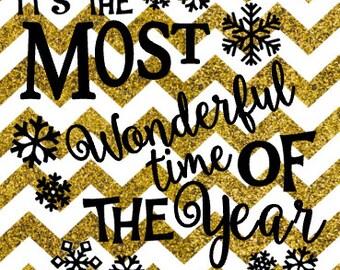 Most Wonderful Time SVG