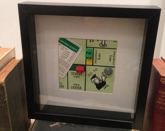 Original Vintage Monopoly Frame - Go to Jail