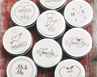 Soy Candle Favors / wholesale wedding favors / Rustic Wedding Favors / custom / engagement party / personalized candle favors / bulk candles