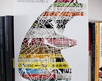 Berlin Bear Map Cut A4
