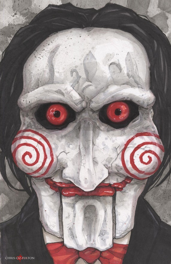 Jigsaw Saw movie Poster Print Chris Oz Fulton