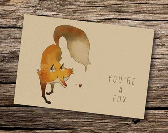 Fox Card - Fox Greeting Card