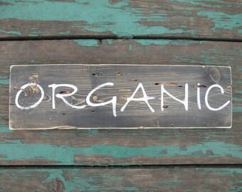 organic wood sign