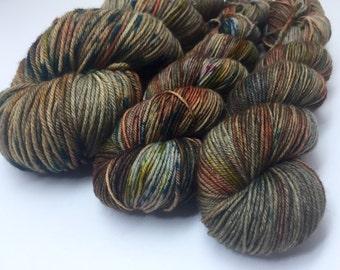 Hand dyed superwash merino DK yarn - Woodland Walks