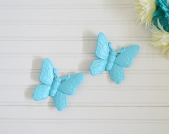 Butterfly Wall Decor. Set of Two Blue Butterflies. Butterfly Wall Decor, 3D Butterfly Wall Art, Nursery, Bath, Wall Decor Wall Hanging