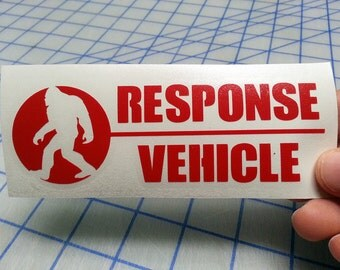 Sasquatch Response Vehicle decal.. Bigfoot Response Vehicle decal.. Bigfoot Response sticker.. Sasquatch decal.. Bigfoot decal..